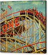 Riding The Cyclone Acrylic Print by Chris Lord