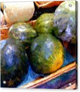 Ripe And Luscious Melons Acrylic Print by RC DeWinter