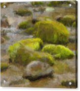 River Stones Acrylic Print by Paul Bartoszek