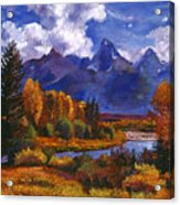 River Valley Acrylic Print by David Lloyd Glover