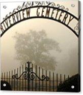 Riverview Cemetery II Acrylic Print by Wayne Archer