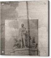 Rizal-full And Detail 1966-67 Acrylic Print by Glenn Bautista