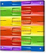 Road Runner Rainbow Acrylic Print by Gordon Dean II