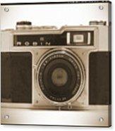 Robin 35mm Rangefinder Camera Acrylic Print by Mike McGlothlen