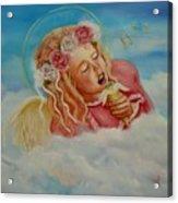 Rock And Roll Angel Acrylic Print by Joni McPherson
