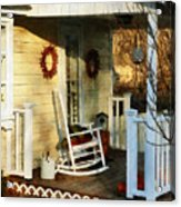 Rocking Chair On Side Porch Acrylic Print by Susan Savad