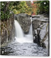 Rocky Falls In The Adirondack Mountains - New York Acrylic Print by Brendan Reals