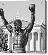 Rocky Statue - Philadelphia Acrylic Print by Brendan Reals