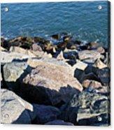 Rocky Water Acrylic Print by Extrospection Art