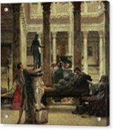 Roman Art Lover Acrylic Print by Sir Lawrence Alma-Tadema