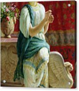 Roman Girl Acrylic Print by Guglielmo Zocchi