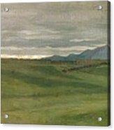 Roman Landscape Acrylic Print by Antoine Auguste Ernest Hebert