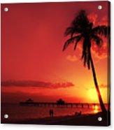 Romantic Sunset Acrylic Print by Melanie Viola