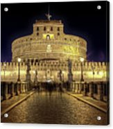 Rome Castel Sant Angelo Acrylic Print by Joana Kruse