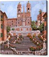 Rome-piazza Di Spagna Acrylic Print by Guido Borelli