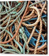 Rope Background Acrylic Print by Carlos Caetano