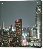 Roppongi From Tokyo Tower Acrylic Print by Spiraldelight