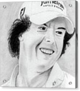 Rory Mcilroy Acrylic Print by Pat Moore