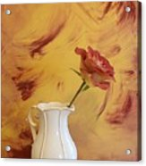 Rose In A Pitcher Acrylic Print by Marsha Heiken