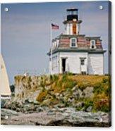 Rose Island Light Acrylic Print by Susan Cole Kelly