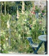 Roses Tremieres Acrylic Print by Berthe Morisot