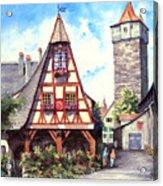 Rothenburg Memories Acrylic Print by Sam Sidders
