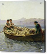 Rowing Boat Acrylic Print by Rosa Bonheur