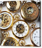 Rows Of Pocket Watches Acrylic Print by Garry Gay