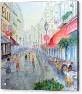 Rue Montorgueil Paris Right Bank Acrylic Print by Dan Bozich