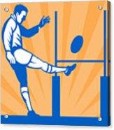 Rugby Goal Kick Acrylic Print by Aloysius Patrimonio