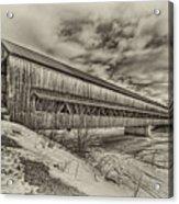 Rusagonish Covered Bridge Acrylic Print by Jason Bennett