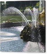 Russia, Samson Fountain At Peterhof Acrylic Print by Keenpress