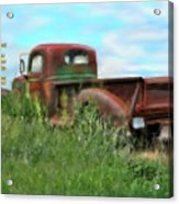 Rusted Not Retired Acrylic Print by Colleen Taylor