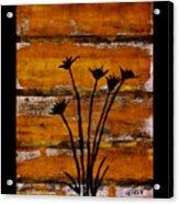 Rustic Log Cabin Acrylic Print by Marsha Heiken