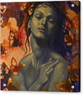 Rustle Acrylic Print by Dorina  Costras