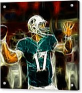Ryan Tannehill - Miami Dolphin Quarterback Acrylic Print by Paul Ward