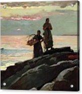 Saco Bay Acrylic Print by Winslow Homer
