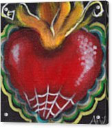 Sagrado Corazon 2 Acrylic Print by  Abril Andrade Griffith