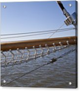 Sailboat Bowsprit Acrylic Print by Dustin K Ryan