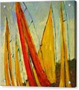 Sailboat Studies 2 Acrylic Print by Julie Lueders