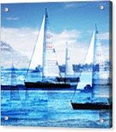 Sailboats Acrylic Print by MW Robbins