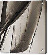 Sailing Beneteau 49 Sloop Acrylic Print by Dustin K Ryan