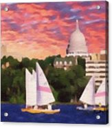 Sailing In Madison Acrylic Print by Anthony Caruso