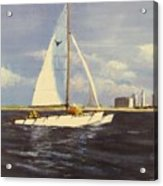 Sailing In The Netherlands Acrylic Print by Jack Skinner