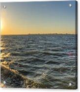 Sailing Sunset Acrylic Print by Dustin K Ryan