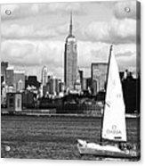 Sailing The New York Harbor Acrylic Print by John Rizzuto