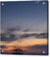 Sailing To The Moon Acrylic Print by Mike McGlothlen