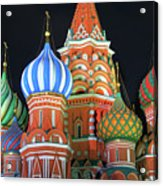 Saint Basils Cathedral On Red Square, Moscow Acrylic Print by Lars Ruecker