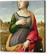 Saint Catherine Of Alexandria Acrylic Print by Raphael