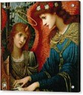 Saint Cecilia Acrylic Print by John Melhuish Strukdwic